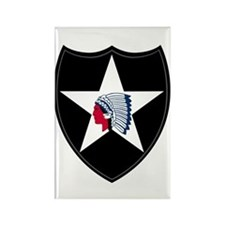 2nd Infantry Rectangle Magnet