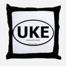 Cute Uke Throw Pillow