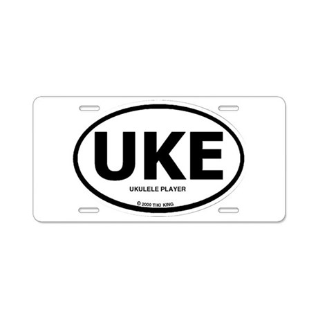Tiki King UKE Logo Aluminum License Plate