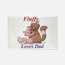 FluffyLovesDad Rectangle Magnet