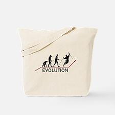 Skiing Evolution Tote Bag