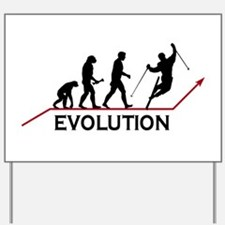 Skiing Evolution Yard Sign