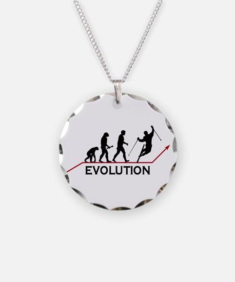 Skiing Evolution Necklace