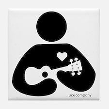 Ukulele Love Tile Coaster