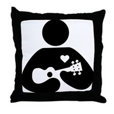 Ukulele Love Throw Pillow