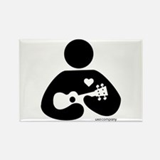 Ukulele Love Rectangle Magnet