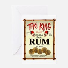 Tiki King Luau Rum Label Greeting Card