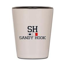 Sandy Hook - Nautical Flags Design Shot Glass