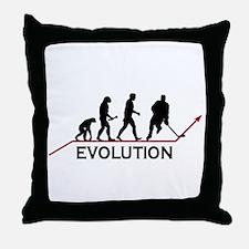 Hockey Evolution Throw Pillow