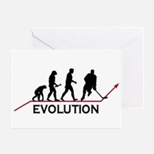 Hockey Evolution Greeting Card