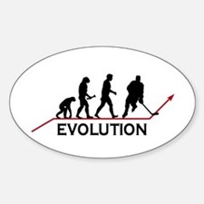 Hockey Evolution Sticker (Oval)