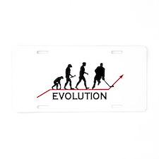 Hockey Evolution Aluminum License Plate