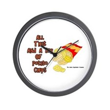All That and a Bag of Chips Wall Clock