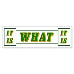 It Is What It Is Bumper Sticker (10 pk)