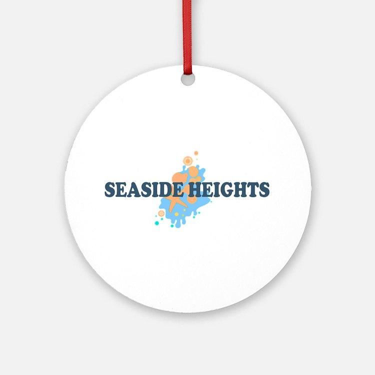 Sandy Hook NJ - Seashells Design Ornament (Round)