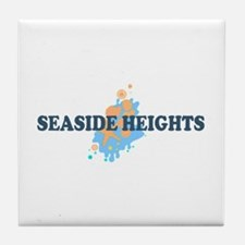 Sandy Hook NJ - Seashells Design Tile Coaster