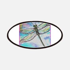 Dragonfly, colorful, Patches