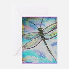 Dragonfly, colorful, Greeting Card