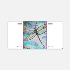 Dragonfly, colorful, Aluminum License Plate