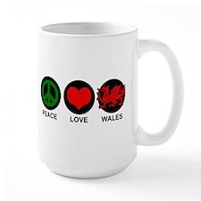 Peace Love Wales Mug