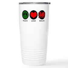 Peace Love Wales Travel Mug