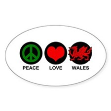 Peace Love Wales Decal
