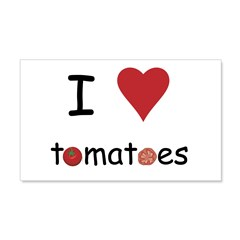 I Love Tomatoes Wall Decal