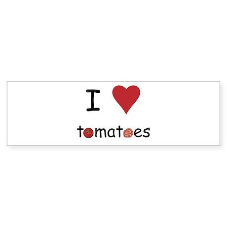 I Love Tomatoes Sticker (Bumper)