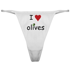 I Love Olives Classic Thong