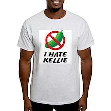 I Hate Kellie Ash Grey T-Shirt