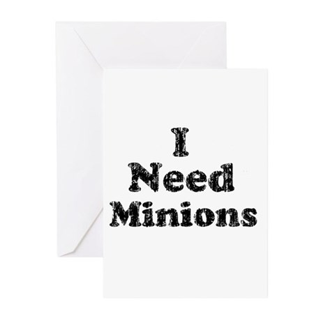 Vintage I Need Minions Greeting Cards (Pk of 20)