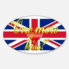 Royal Wedding Whisper Sticker (Oval)