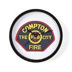 Compton Fire Department Wall Clock