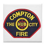 Compton Fire Department Tile Coaster