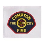 Compton Fire Department Throw Blanket