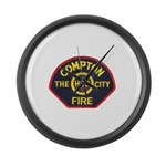Compton Fire Department Large Wall Clock