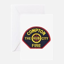Compton Fire Department Greeting Card