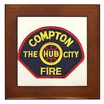 Compton Fire Department Framed Tile
