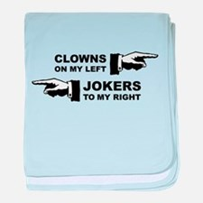 Clowns & Jokers baby blanket