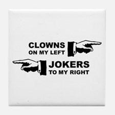Clowns & Jokers Tile Coaster
