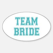 Team Bride Sticker (Oval)