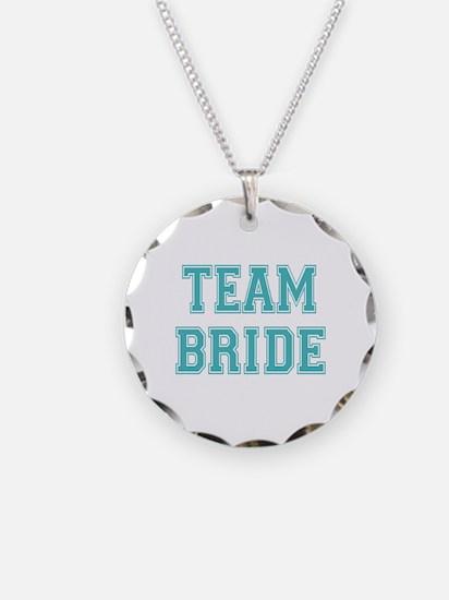 Team Bride Necklace Circle Charm