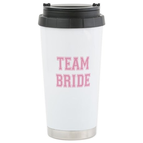 Team Bride Stainless Steel Travel Mug