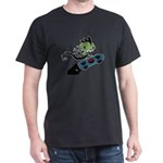 KID FIN Skateboardin' Black T-Shirt