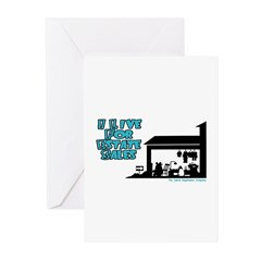 I Live For Estate Sales Greeting Cards (Package of