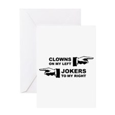 Clowns & Jokers Greeting Card