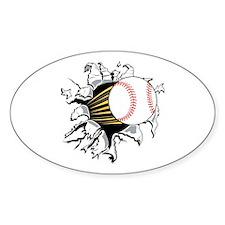 Baseball Burster Decal