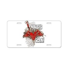 Nurses Rock Aluminum License Plate