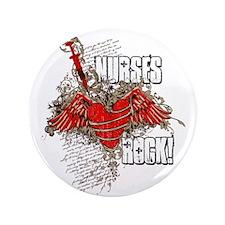 "Nurses Rock 3.5"" Button"