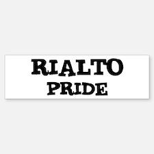 Rialto Pride Bumper Bumper Bumper Sticker